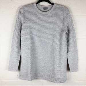 COS | small | gray textured dot long sleeve top